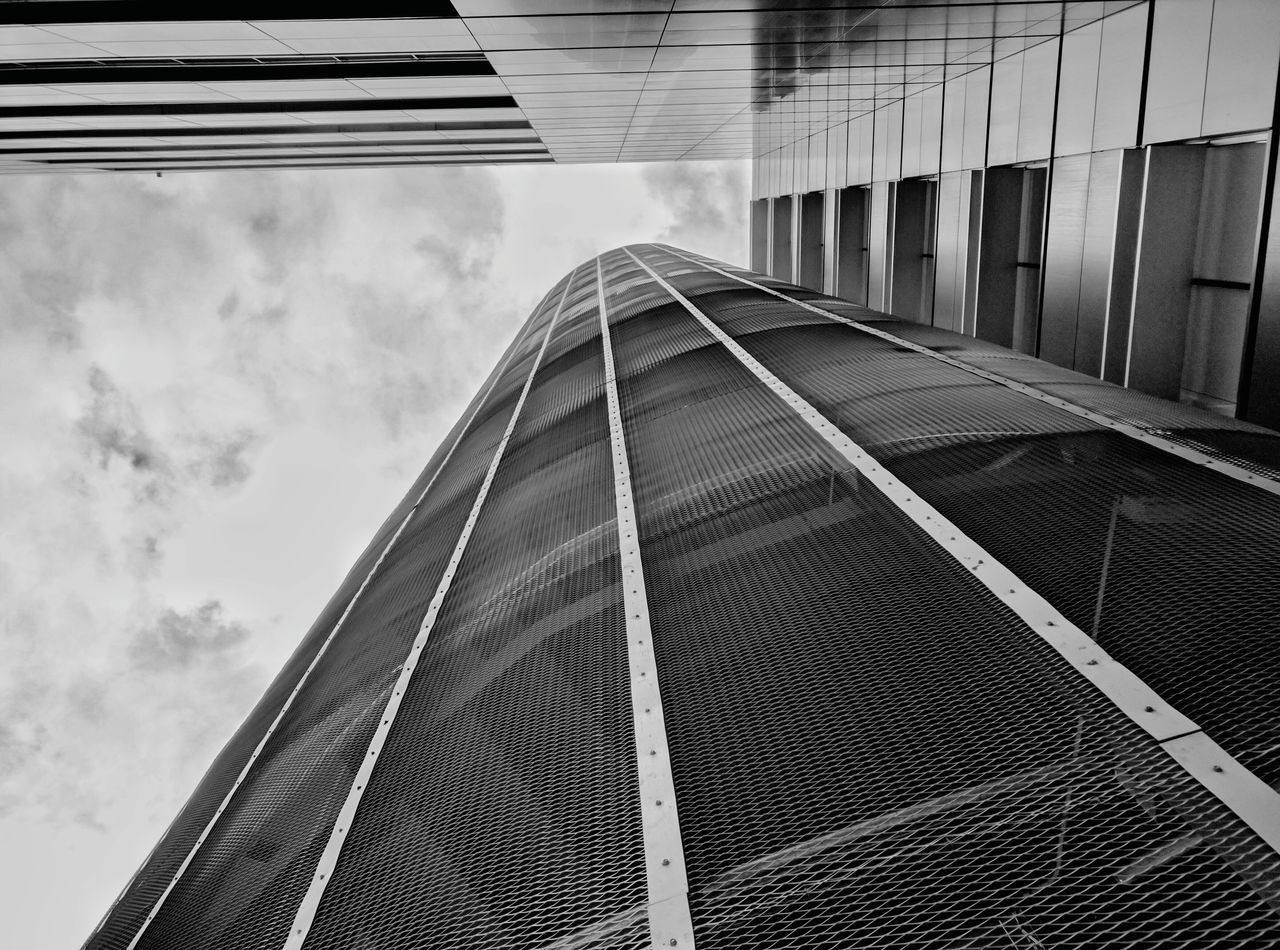 Cloud - Sky Sky Built Structure Architecture Day No People Outdoors Low Angle View Geometric Shape TakeoverContrast Travel Destinations Tourism Futuristic Skyscraper Modern Office Block Window Reflection Building Exterior Architecture