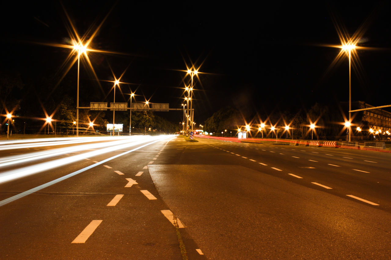Slow motion City Street Light Light And Road Light Mar Light Trail Motion Night Night Lights Night Photography No People Road Street Light