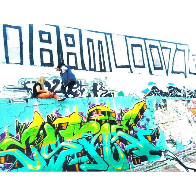 My Unique Style Streetart Graffiti Art Graffiti Awkward Pose  Enjoying Life