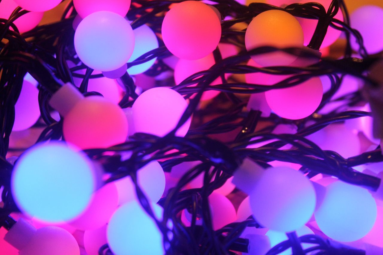 Ambiance Backgrounds Clear Close Up Close-up Full Frame Illuminated Indoors  Multi Colored Night No People Party Party Lights Partying Partylights Pastel Pastel Colors Pastel Colours Realm Tec Technology