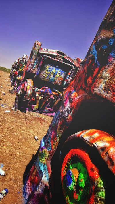 Family Fun Tourist Attraction  Spraypaint Cadallac Ranch Amarillo, TX Route 66 Just For Kicks Vacation Texas Panhandle Road Trip!