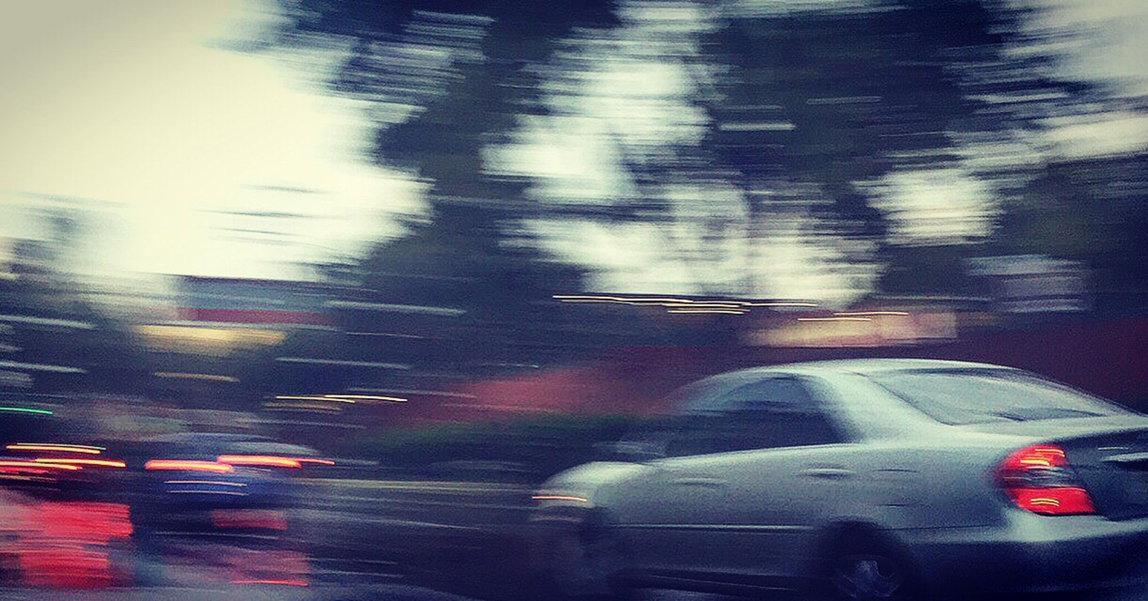 transportation, blurred motion, car, land vehicle, mode of transport, motion, no people, outdoors, day