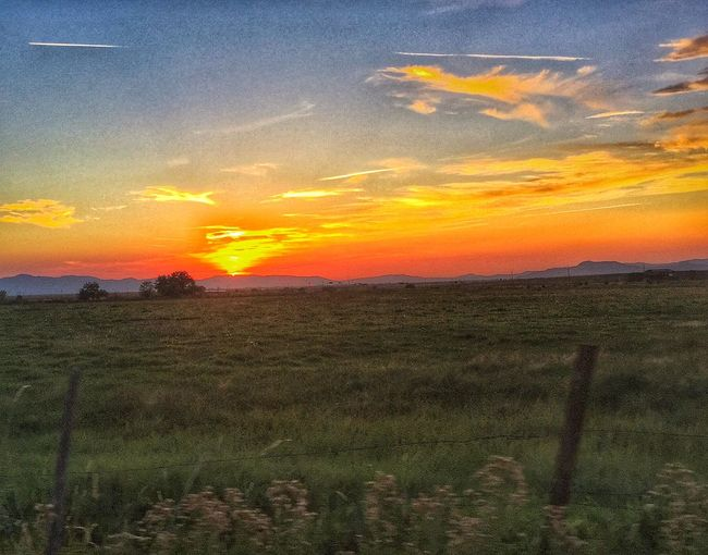 Iphoneonly Sunset On The Fly