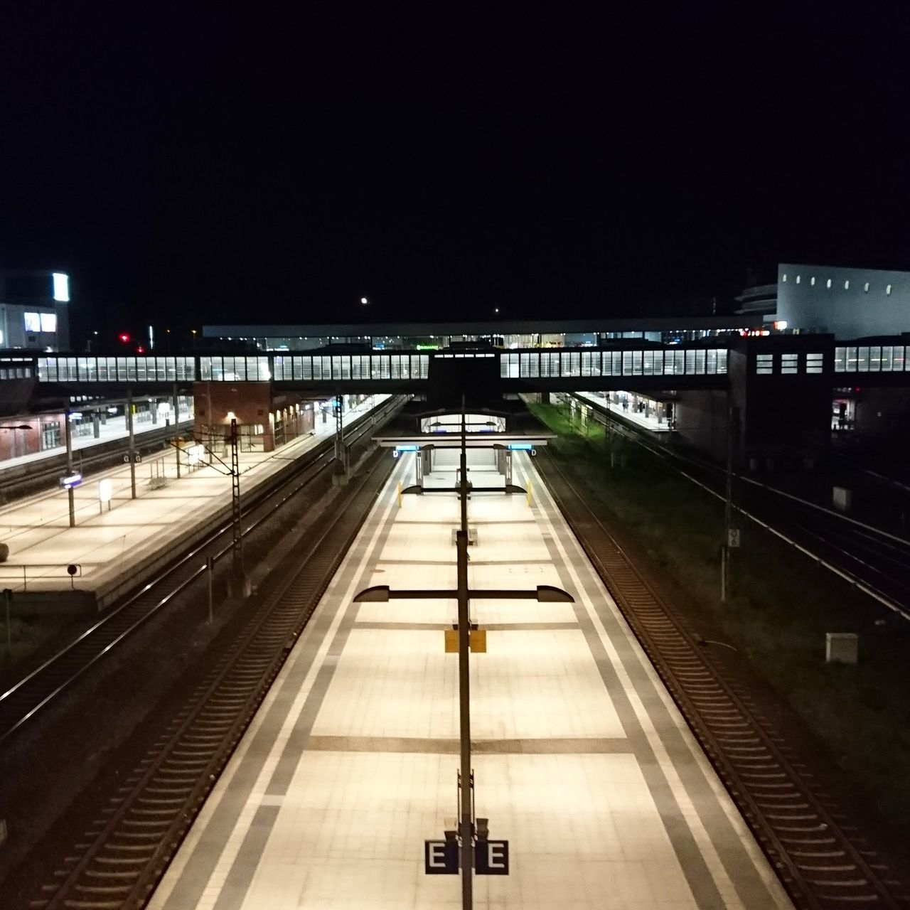 Night Illuminated Railroad Track Railroad Station Outdoors Architecture No People City Architecture Berlin Station
