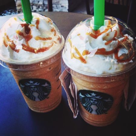 Starbucks Caramel Frappè Drinking On A Date Chilling