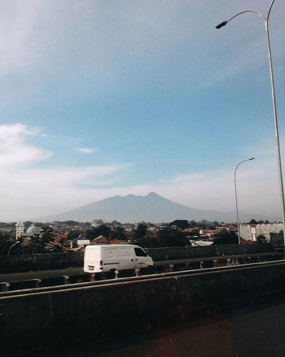 Mount Salak Portrait from highway. Vscocam
