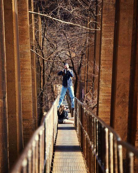Above the pipeline Taking Photos Bridge Pipeline Pipeline Trail Richmond, VA RVA James River James River, Richmond, VA James River Park