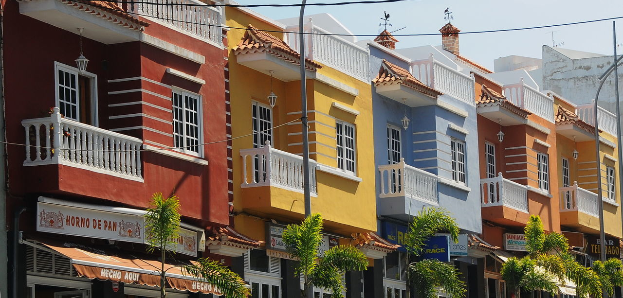 La Orotava Apartment Architecture Balcony Building Exterior Built Structure City City Life Cityscape Day House Housing Development La Orotava Low Angle View No People Outdoors Residential Building Sky Window