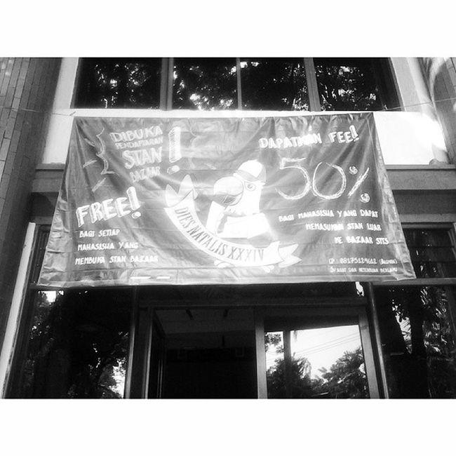 Asssekk uda dipasang xD Banner Diesnatalis Sttsxxxiv