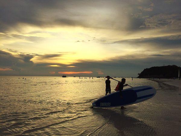 Nature Sunset Sky Horizon Over Water Viajar Aroundtheworld Trip Sea Mar Playa Atardecer Philippines Boracay Cielo