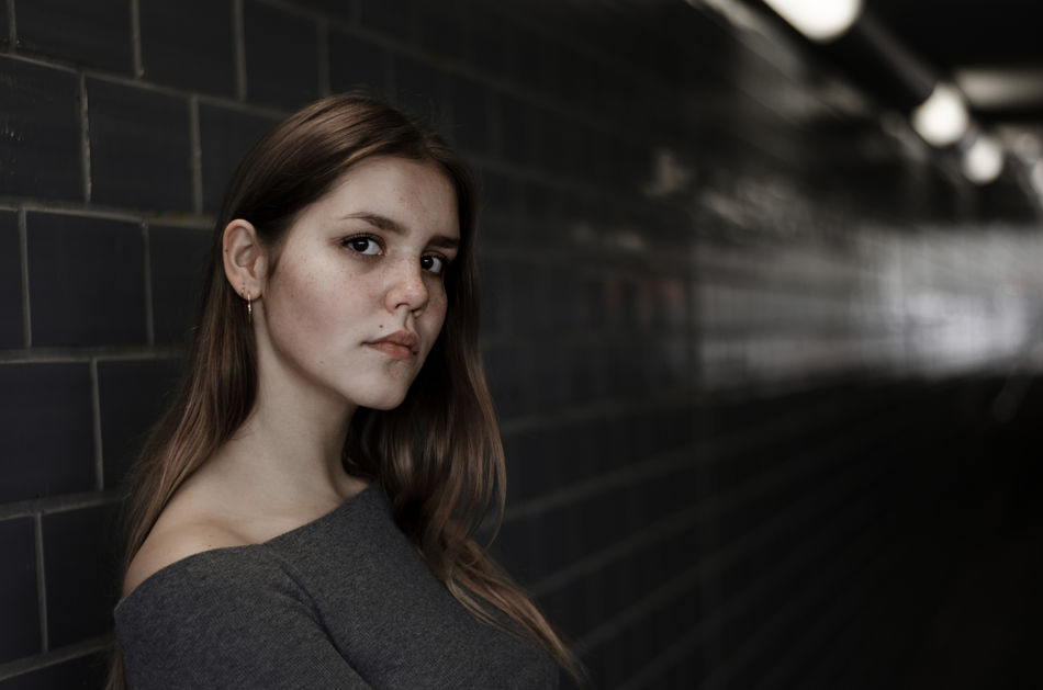 Tunnel. Available Light Photography City Daydreaming Fleckled Fleckles Portrait Portrait Of A Woman Tunnel Underground Young Woman