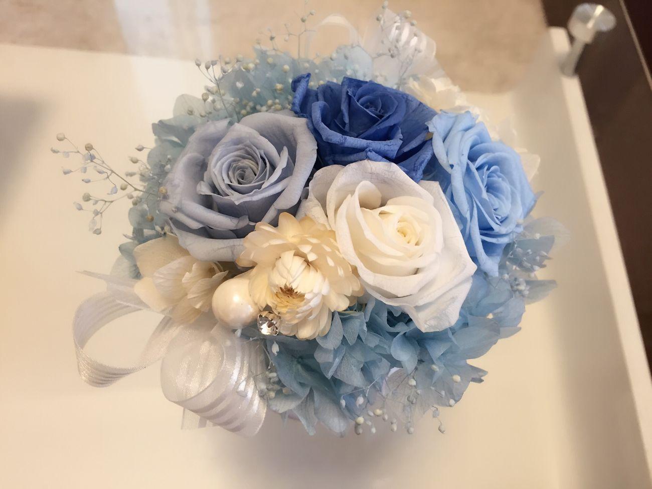 Flower Rose - Flower 趣味 Blue ブリザードフラワー 趣味