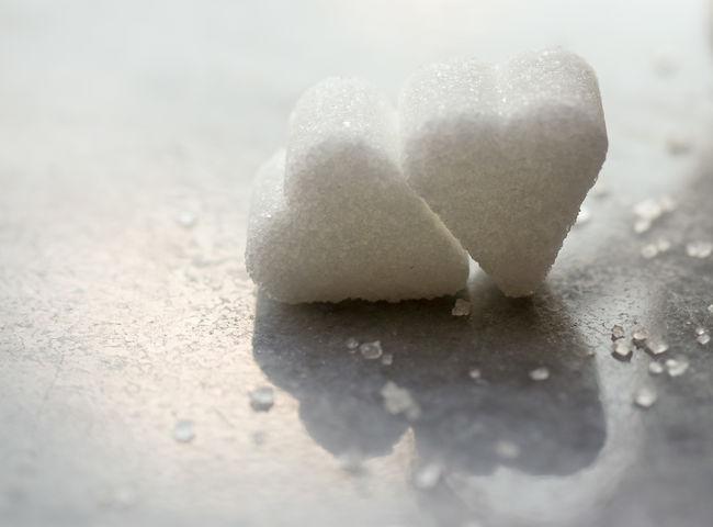 Close-up Cold Temperature Day Fragility Frozen Heart Hearts No People Outdoors Season  Selective Focus Sugar Sugar Cubes Sugar Hearts Surface Level Sweet Sugar