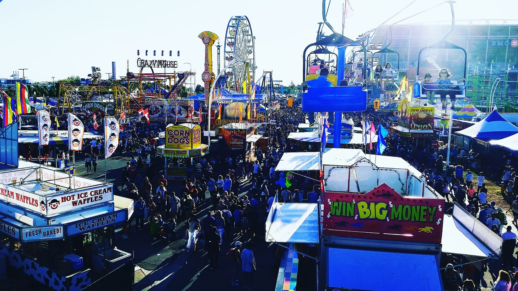 View of the cne while on the skyride CNE Cne2016