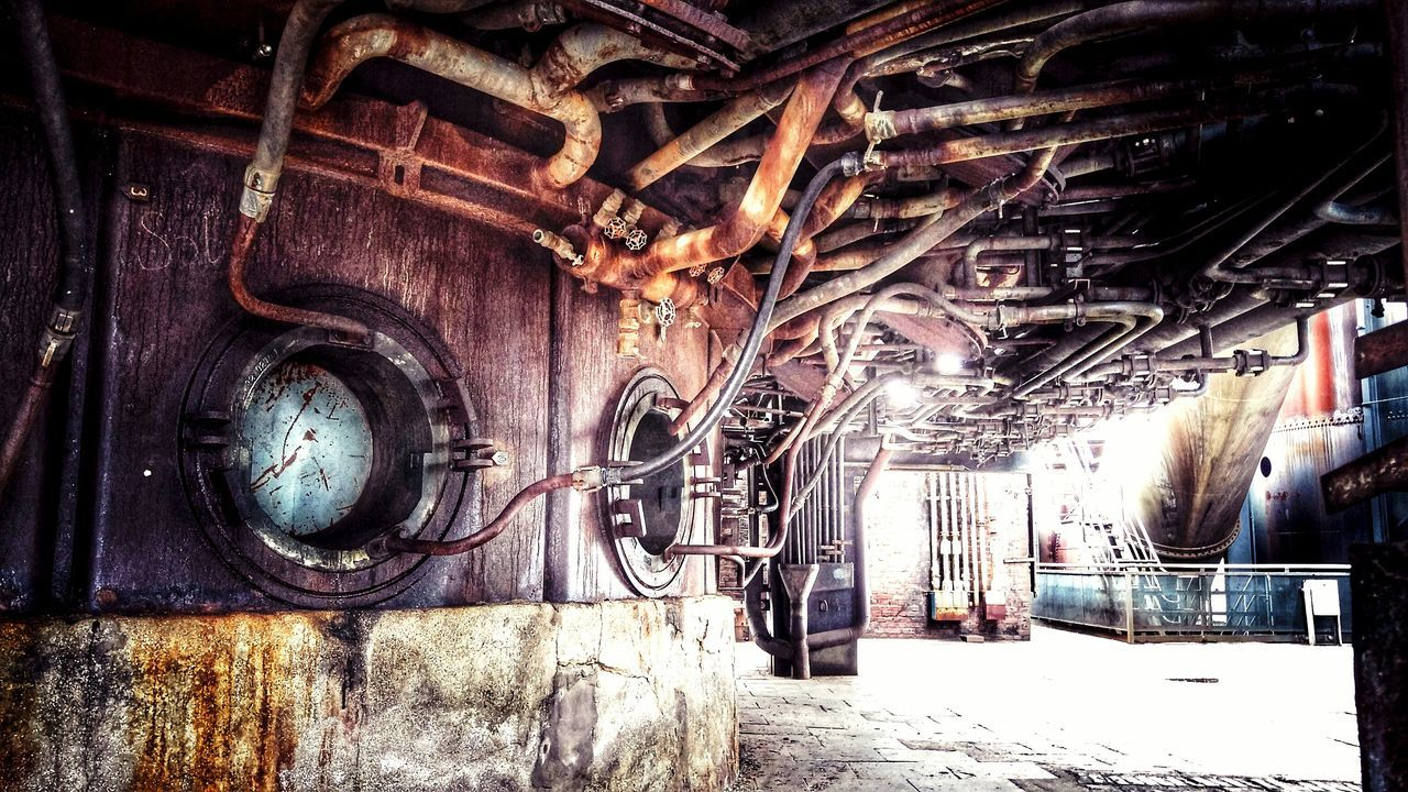 Welcome to the Machine Popular Photos Technology Ruined Abandoned Places Lost Places Hochofen Perspectives Metal Industrial Landscapes Industrialbeauty No People Built Structure Absence Lostplaces Damaged Weathered