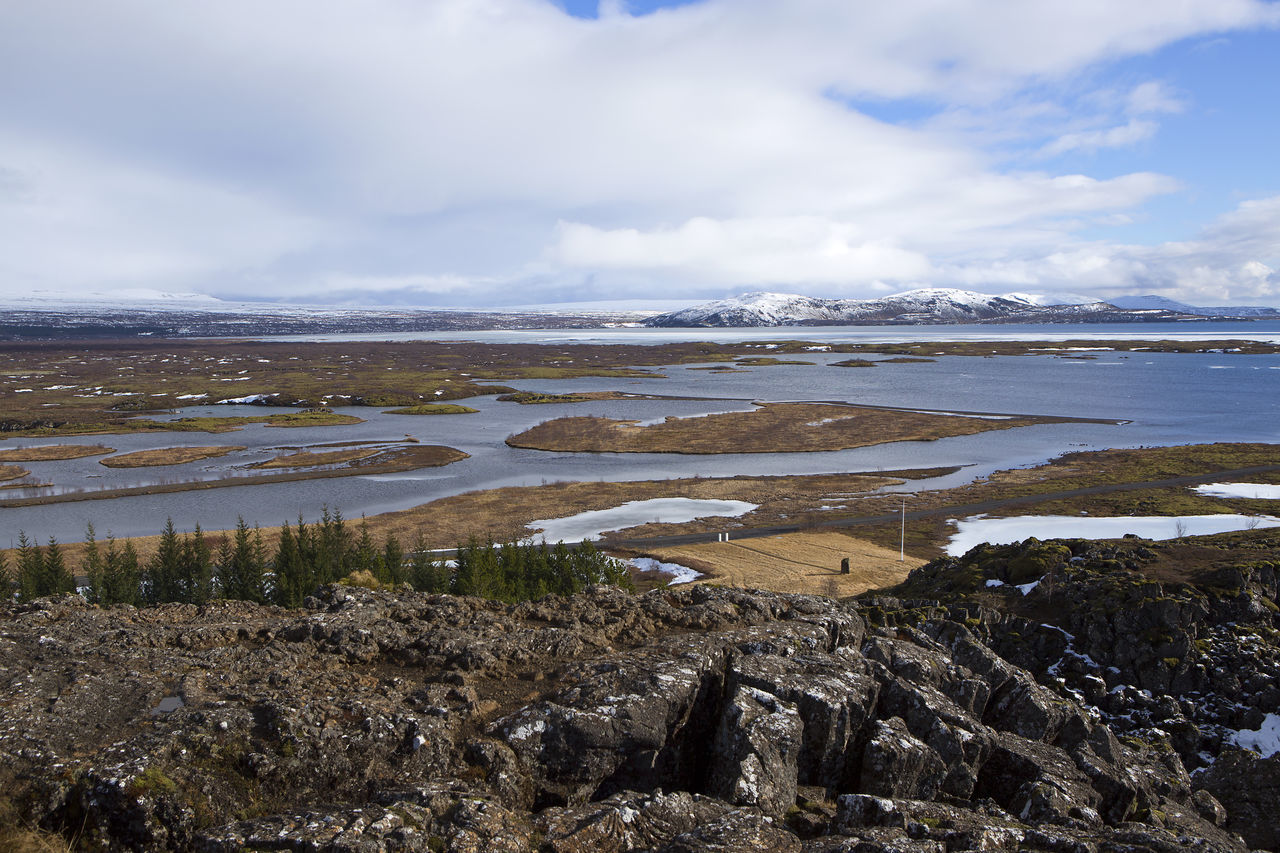 Iceland Mountain Range Nature Panorama Pingvallavatn Pingvellir Thingvellir National Park Travel Travel Destinations Travel Photography