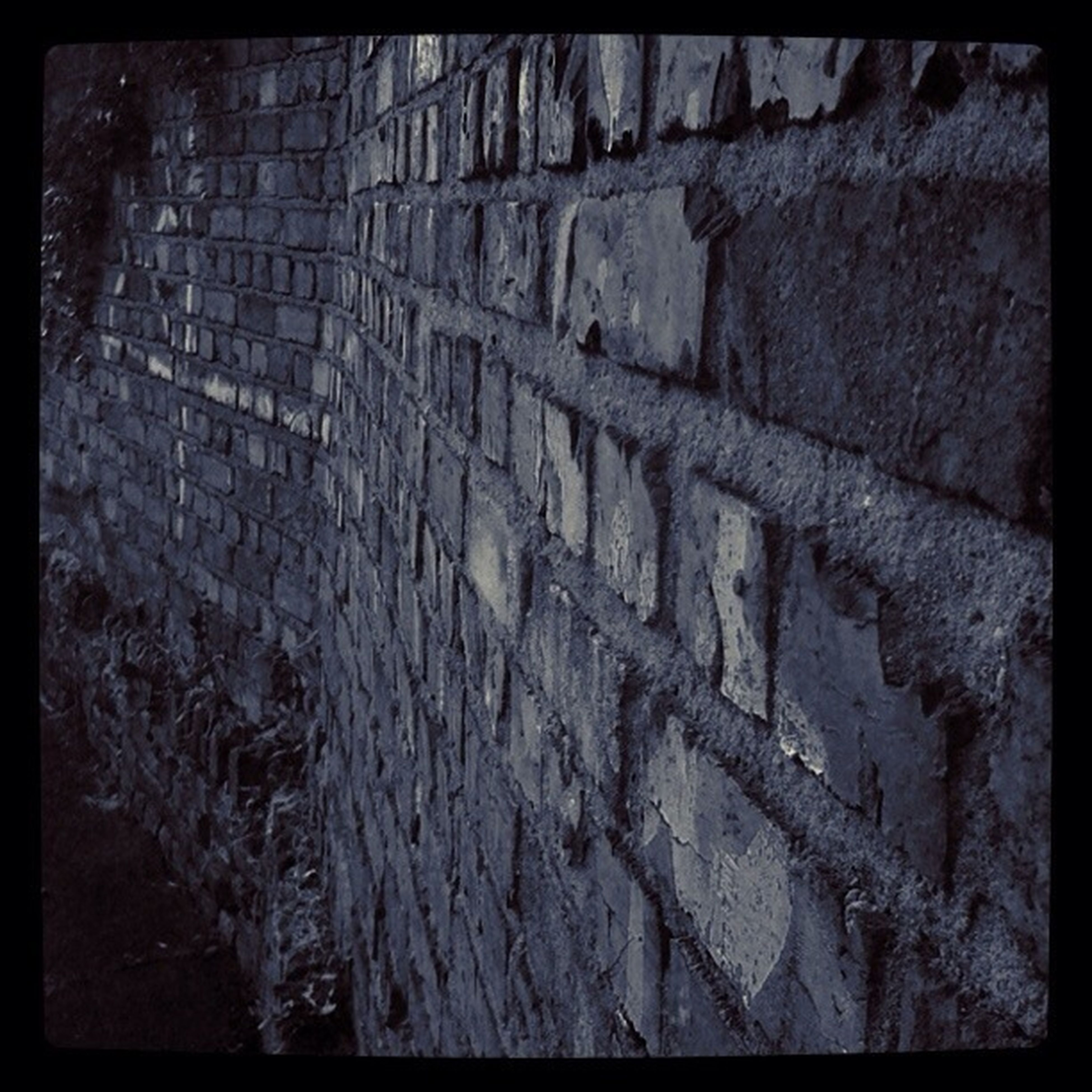transfer print, auto post production filter, full frame, textured, backgrounds, wall - building feature, built structure, high angle view, architecture, pattern, day, outdoors, no people, sunlight, brick wall, stone wall, cracked, rough, close-up, wall