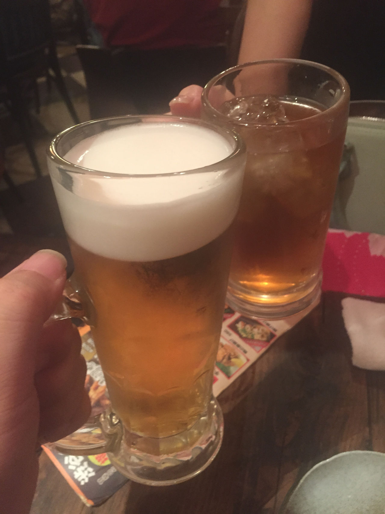 Alcohol Beer Beer Mug Cheers Cheers! Drink Drinking Drinking Beer Enjoying Life Food And Drink Freshness From My Point Of View Glass Hand Hands At Work Happy Holiday POV Indoors  Izakaya Japanese Style Onthetable Party Softness Still Life Toast