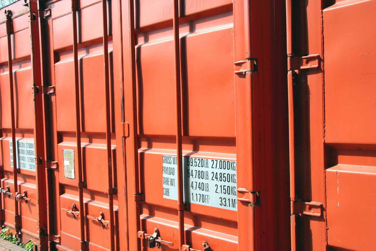 Container closeup Backgrounds Business Business Finance And Industry Cargo Cargo Container Close-up Commerce Container Containers Economy Freight Freight Transportation Full Frame Global Globalization In A Row International No People Orange Color Outdoors Shipping  Trade Transit Transport Transportation