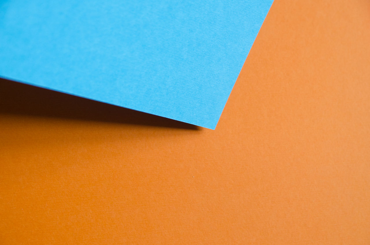 Backgrounds Blue Close-up Color Colorful Colorfull Copy Space Full Frame Indoors  No People Orange Color Paper Papercraft