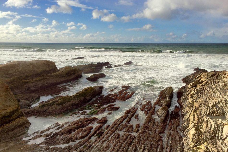 Montana De Oro Montaña De Oro Beach Ocean Rock Rock Formation Sunset Wave Water Beauty In Nature Nature California California Coast Morro Bay Travel Landscape Lines Pattern