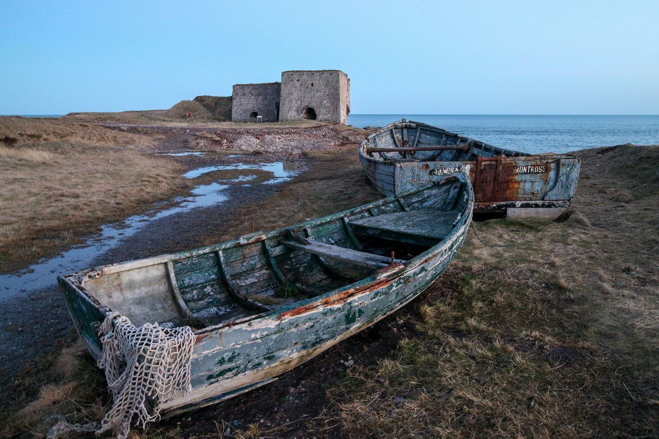Poddin Point Boat Wreck Rustic Beautiful Seascape Coastline Angus Scotland Eyem Best Shots