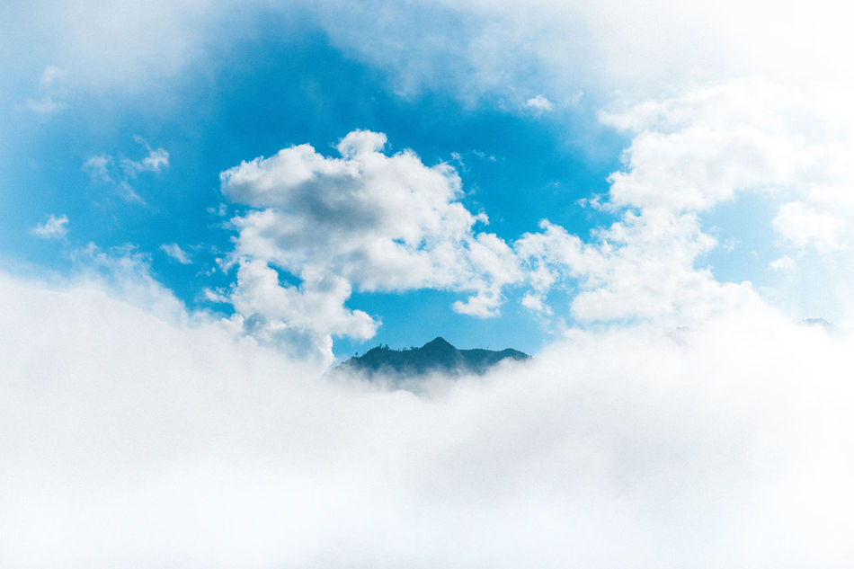 Blue Heaven! Beauty Beauty In Nature Blue Cloud - Sky Cloudscape Environment Freshness Hà Giang Memories Mountain Nature Power In Nature Scenics Sky Travel Viet Nam