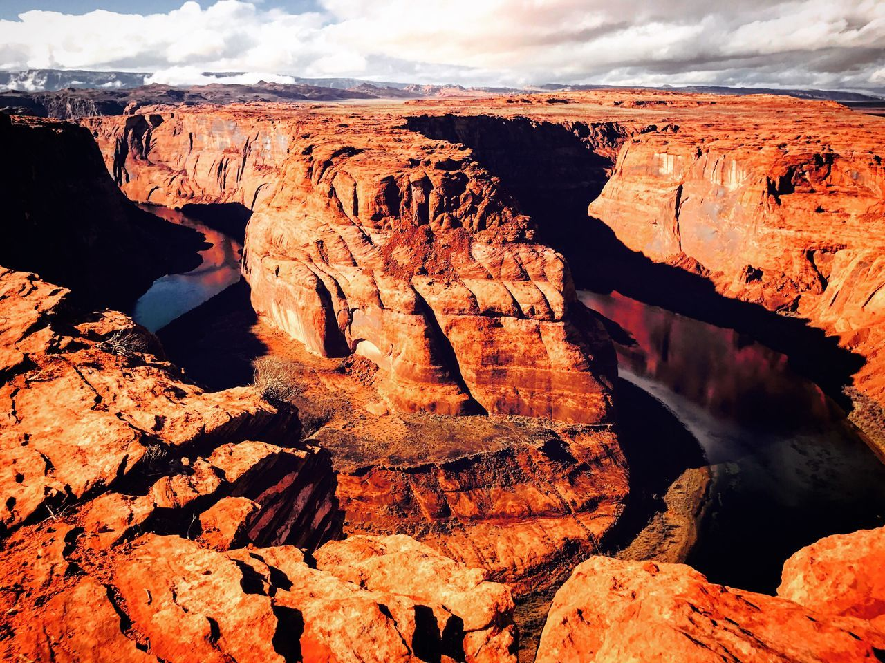 Nature Tranquility Beauty In Nature Rock - Object Rock Formation Geology Physical Geography No People Tranquil Scene Day Scenics Outdoors Sky Horseshoe Bend Utah Arizona Vacations Travel Destinations Tranquility Travel Outdoor Photography Hiking Adventure Adrenaline Junkie Desert