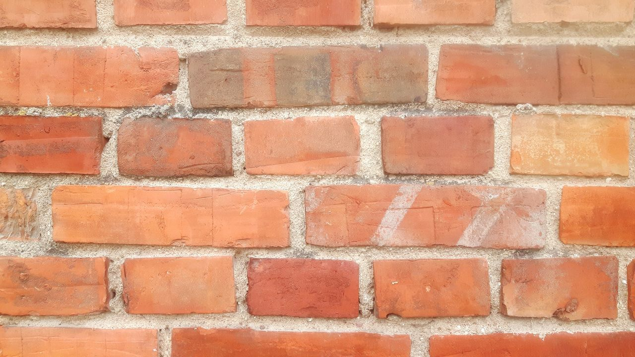 brick wall, wall - building feature, brick, red, built structure, architecture, backgrounds, full frame, building exterior, outdoors, paint, day, no people, close-up