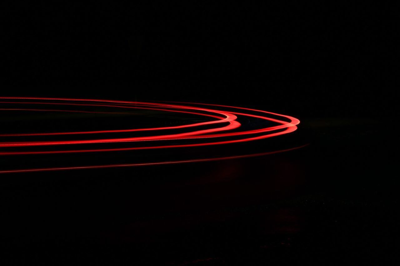 Beautiful stock photos of colors, Black Background, Curved, Illuminated, Light Trail