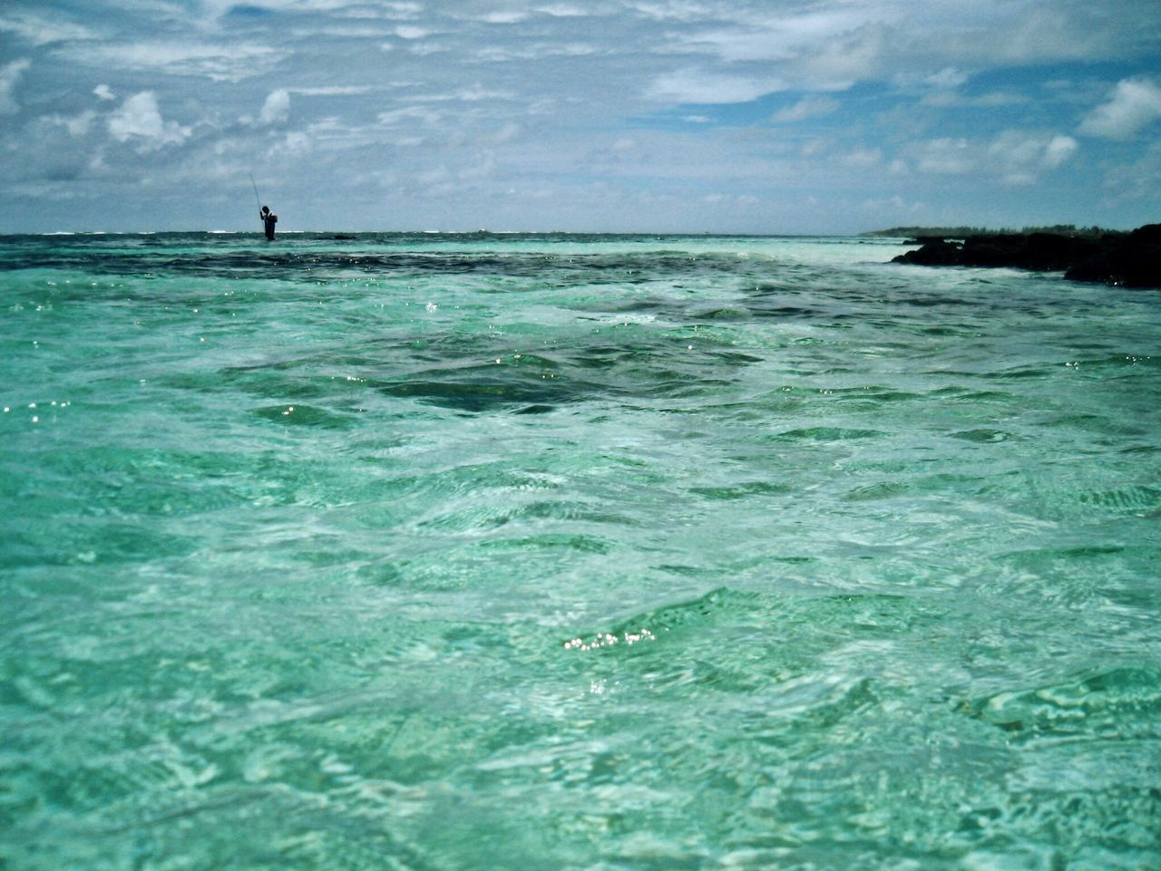 Mauritius île Maurice  Belle Mare Plage Blue Crystal Clear Crystal Clear Waters Sea Water Nature Beauty In Nature Horizon Over Water Scenics Sky Beach Wave Outdoors Tranquility Fisherman Real People Leisure Activity Cloud - Sky Vacations One Person Men Turquoise