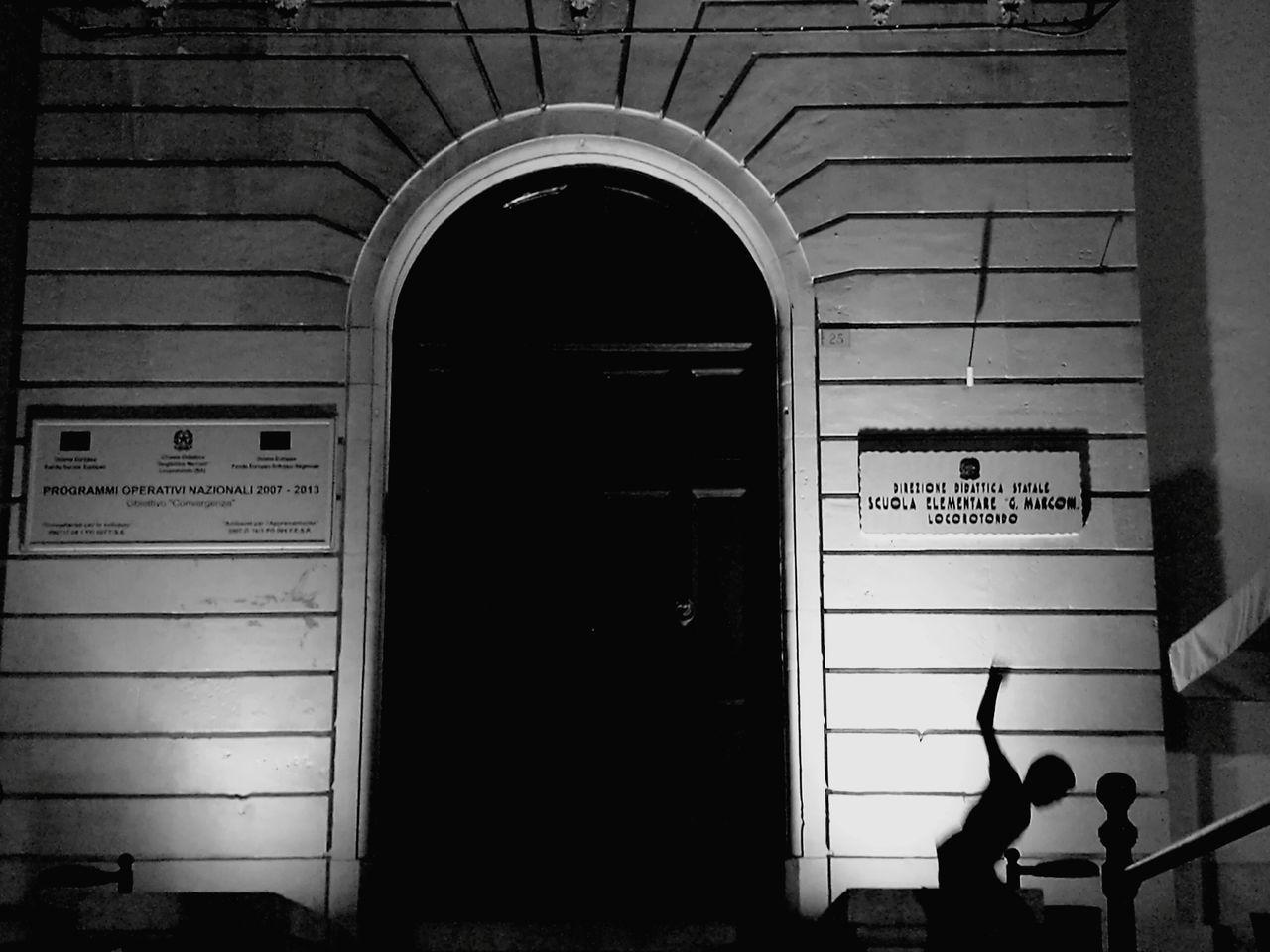 "Blackandwhite Photography Blackandwhite Locorotondo Puglia Puglia South Italy Taking Photos Hello World Night Nightphotography ""The boy's jumped in the dark"""