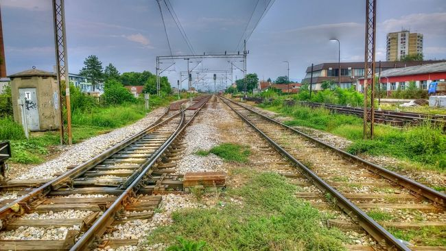 Cloud Cloud - Sky Day Grass Outdoors Public Transportation Rail Transportation Railroad Track Railway Track The Way Forward Train Track