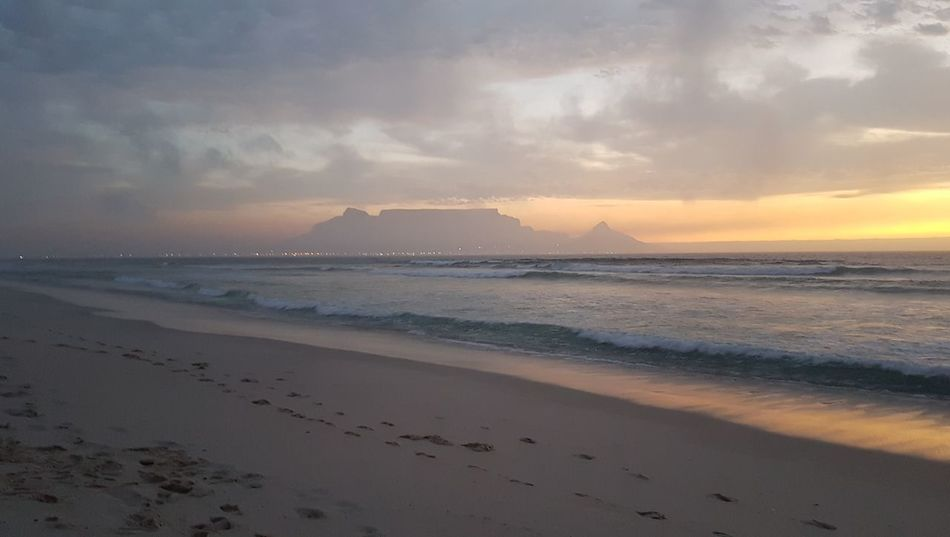 Beach Sea Scenics Nature Horizon Over Water Beauty In Nature No People Cloud - Sky Sand Outdoors Sky Day Cape Town, South Africa Cape Town South Africa 🇿🇦 Western Cape Sunset_collection Sunset Over Africa Beauty In Nature