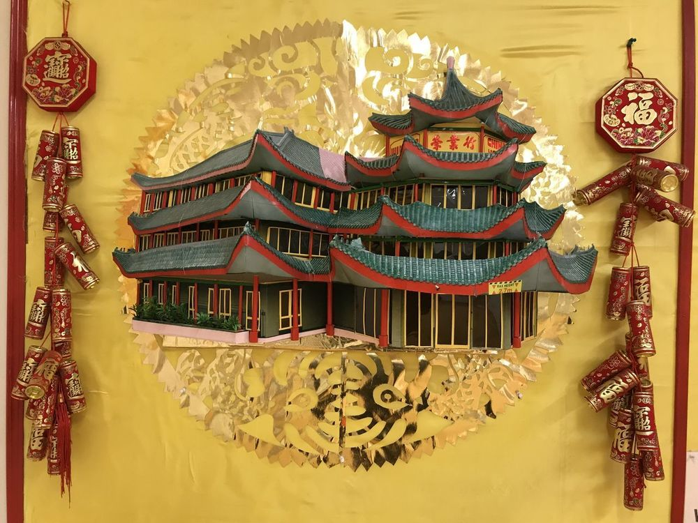 Model of Wing Yip Building Chinese Architecture Chinese Style Building Composition GB London Architecture Building Exterior Capital City Chinese Culture Chinese Dragon Chinese New Year Chinese Style Chinese Symbols Close-up Dragon Fire Crackers Full Frame Gold Coloured Illuminated Indoor Photography Model No People Red And Green Colours Tiled Roofs Uk