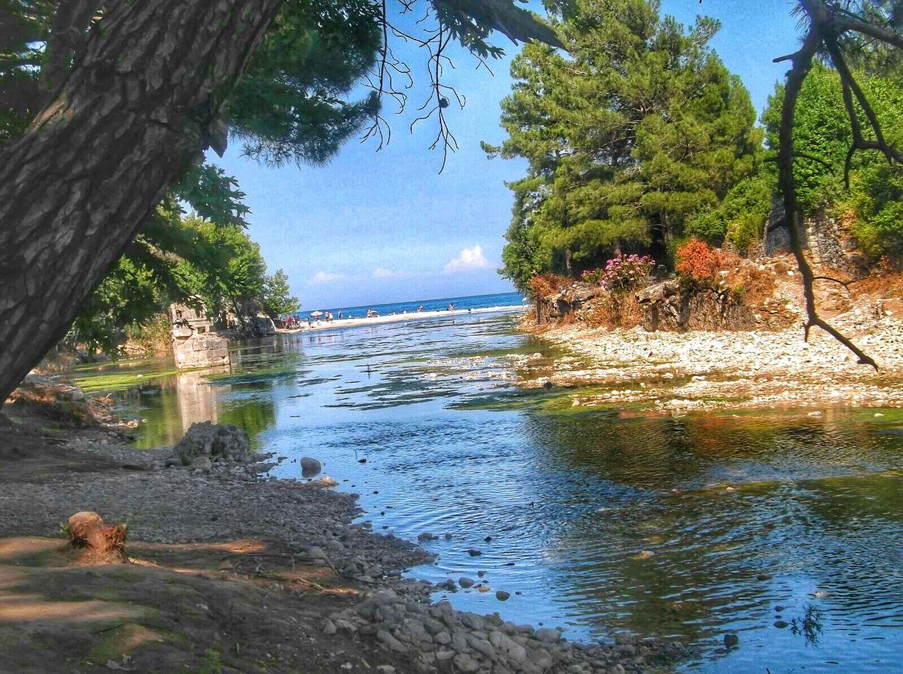 Antalya Turkey Sea View River View Mediterranean  Peaceful People And Nature Olympos Antalya Olympos Beach Hapiness🍹
