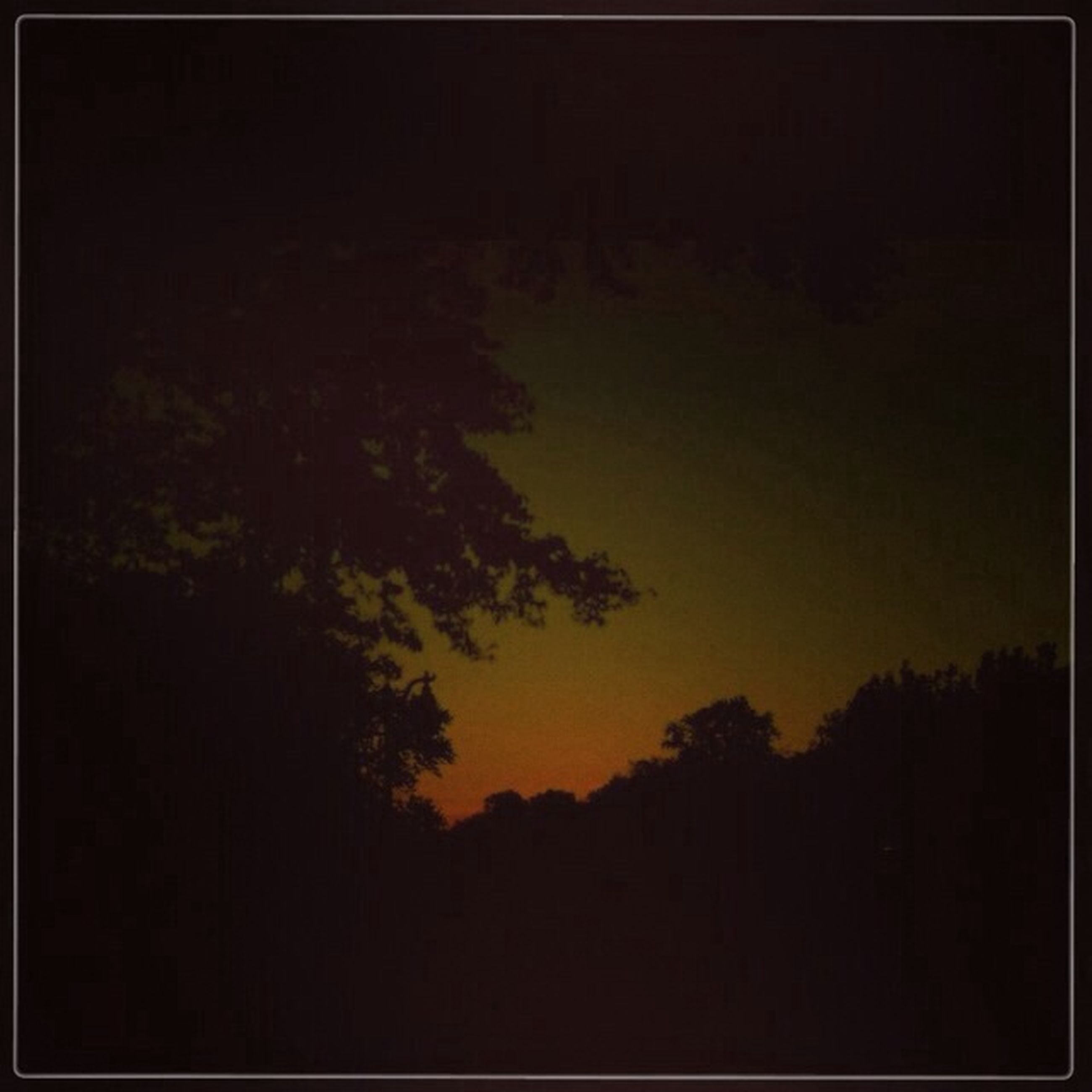 silhouette, transfer print, tree, sunset, beauty in nature, tranquility, scenics, tranquil scene, copy space, dark, auto post production filter, nature, sky, idyllic, dusk, orange color, outdoors, no people, night, growth