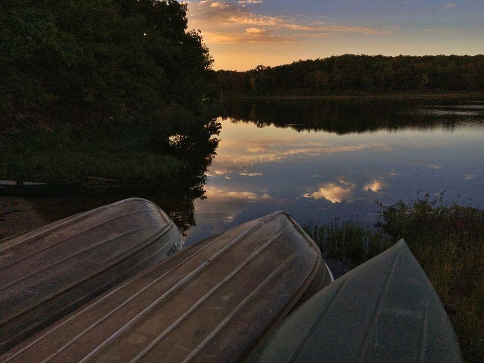 Sunset over Osage Lake