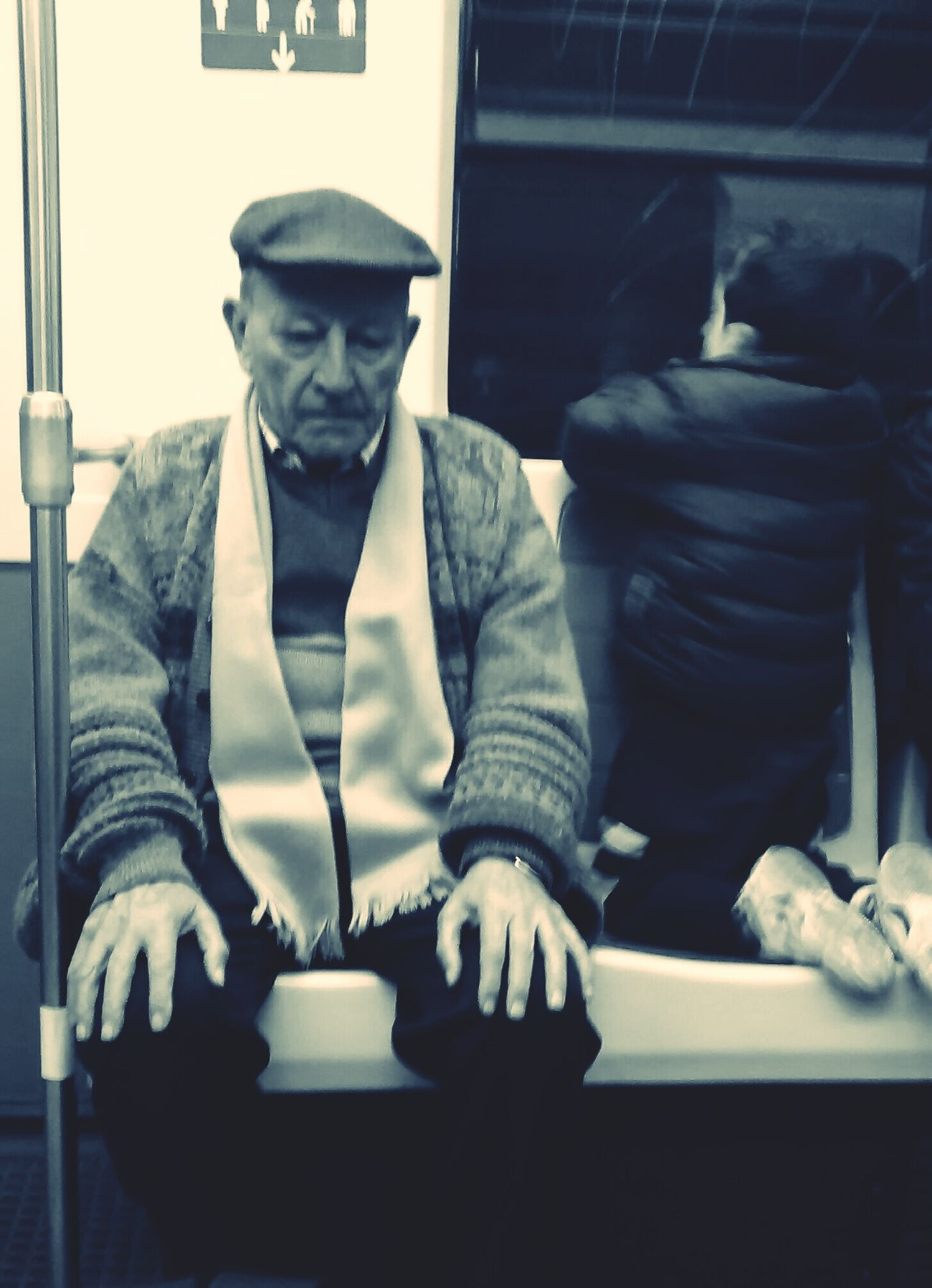 The Old Man and The Grandson Peoplephotography Dem Fontana Metro Madrid Subway Portraits