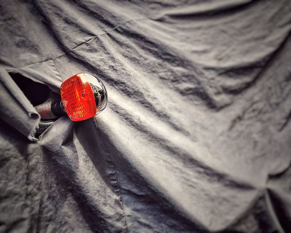 Peek Motorcycle Cover Light Directional Sign Orange Light Hiding Fresh On Eyeem  Hidden Treasure Hidden Color Grey Grey Coverup Direction Which Direction? Cover Up