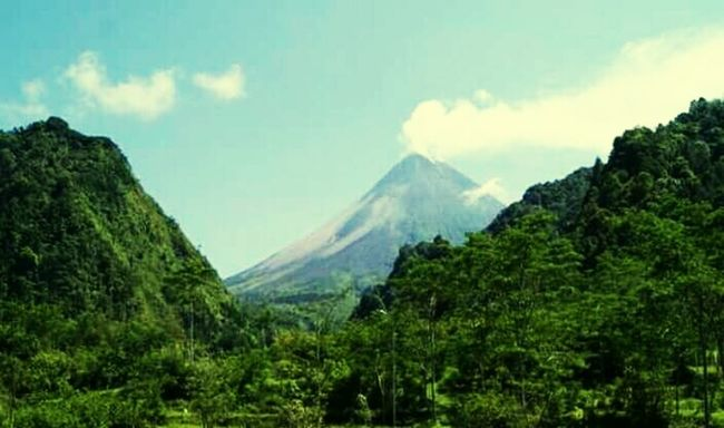 Good Morning World! Mountain View Mountains And Sky Sky And Clouds Merapi Mountain , Yogyakarta , Indonesia #mountain #popular #enjoy #indonesia Merapi In The Morning Merapi Volcano Forest Park Forest Photography Urban Photography EyeEm Best Edits EyeEm Best Shots Wonderful Indonesia Indonesia_photography EyeEm Gallery Urban Gardening