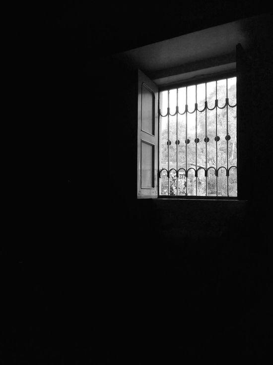Blackandwhite Photography Window Light And Shadow Grill Fullblack Streetphotography Smartphone Photography Motog3 Mpow Lenses Monochrome