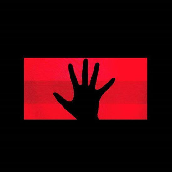 Awake Red Glow Neon Neonred Redglow Hand Silhouette Crt Dark
