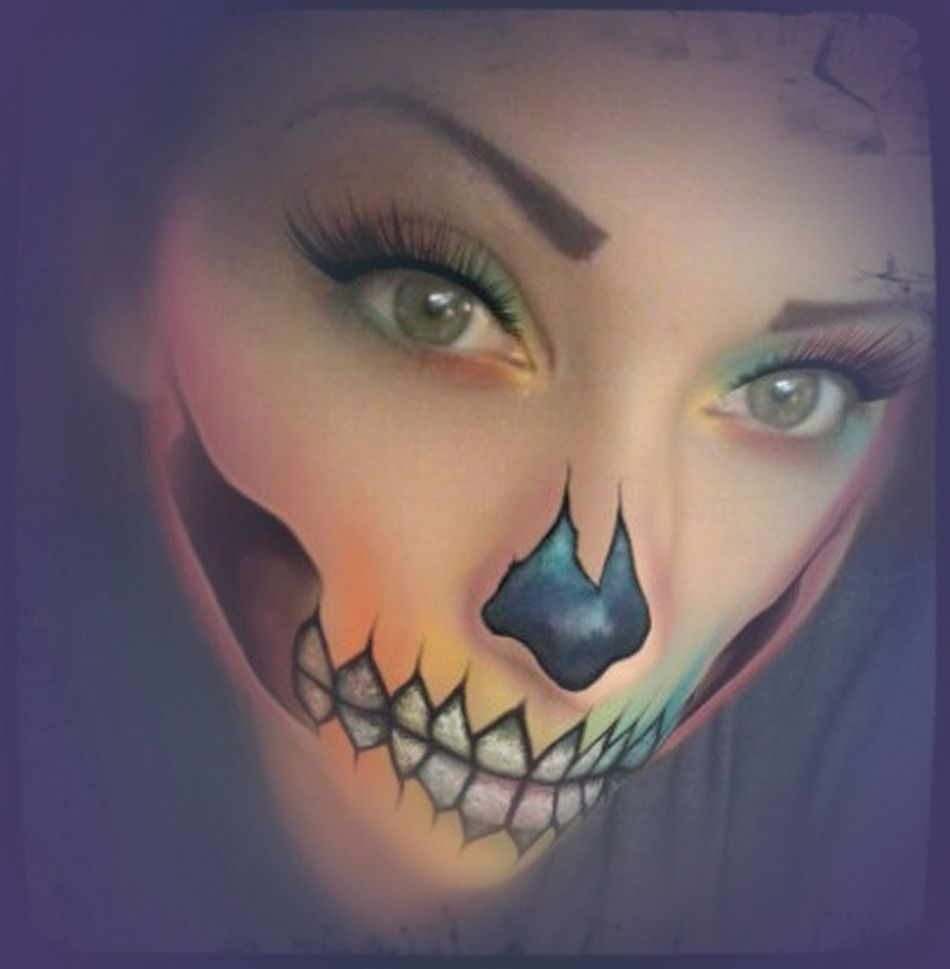 EyeEmNewHere One Person Beautiful Woman Beauty Close-up Human Body Part Adult Tattooed Just Me Skull Airbrushed Airbrushmakeup