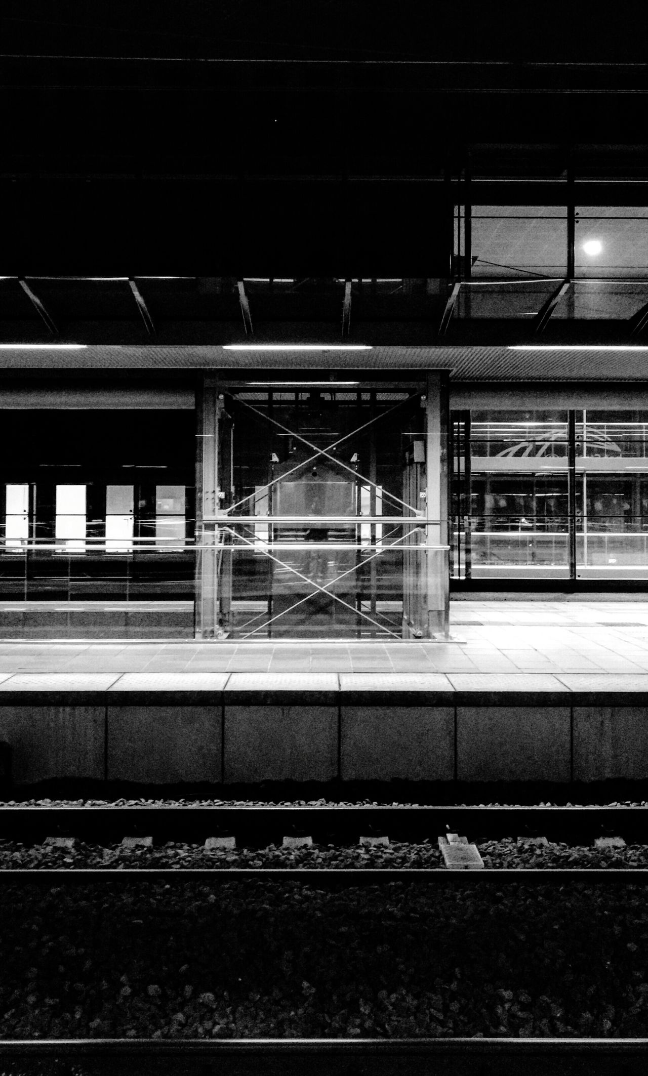 Early morning, waiting for a train. Public Transportation Train Commuting Blackandwhite Grayscale