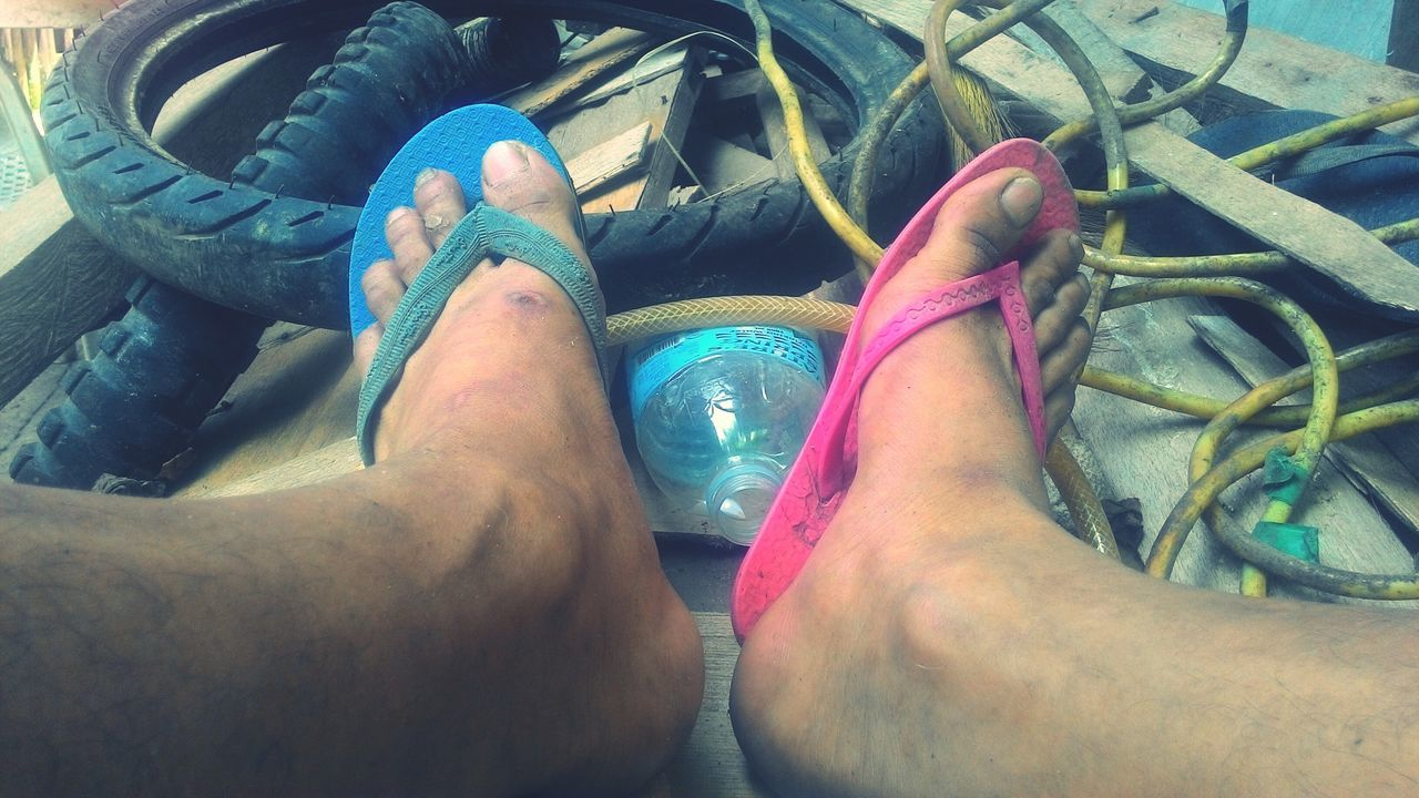 Salvaged flip flops Poverty Poor  Poor People  Third World Country Philippines