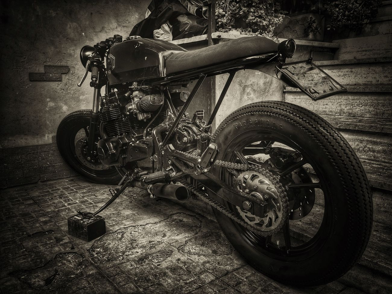 Vintage Cafe' Racer Streetphoto_bw Blackandwhite Monochrome Bw_collection Vintage Motorcycles Bw_lover EyeEm Best Edits EyeEmbnw Black And White