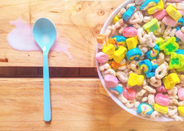 A Bird's Eye View Morning Cereal Breakfast Colorfood Rainbow Garden Summer