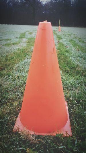 Dew Drops Grass Nature Cone Football Training