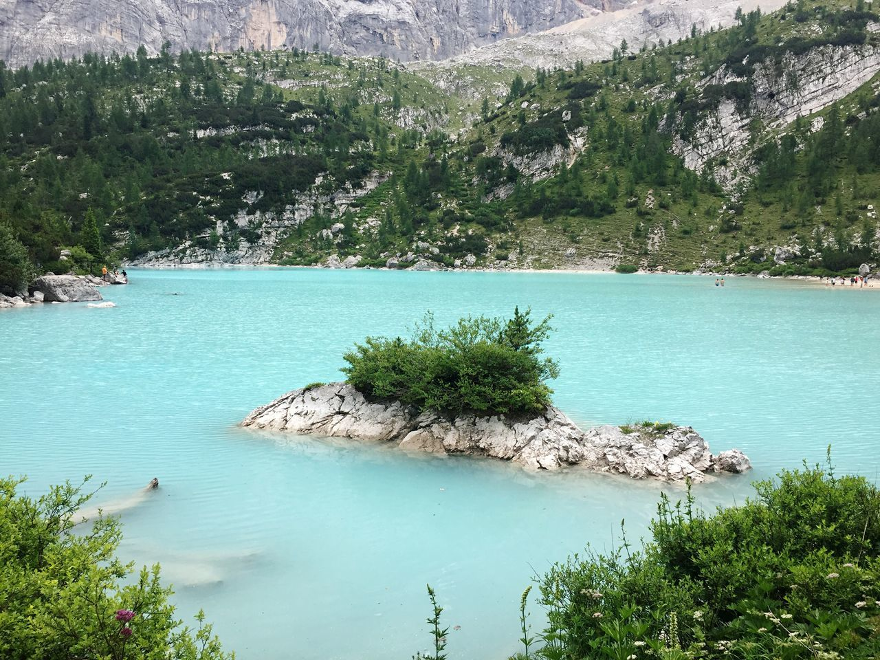 Water Nature Tranquility Scenics Rock Formation Lake Sorapis Lake